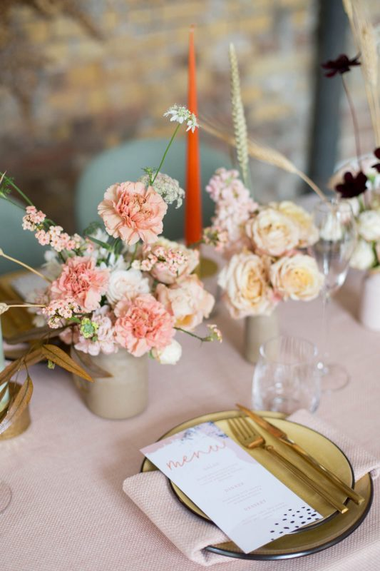 wedding planning and design service Pastel place setting London